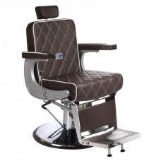 Fotel barberski LUMBER Brązowy LUX