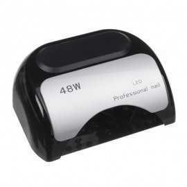 Lampa 48W Dual LED UV Timer + Sensor LED06 Czarna