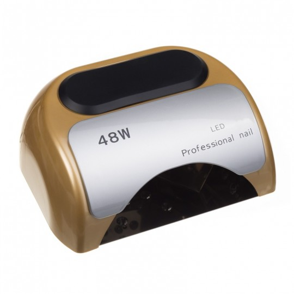 Lampa 48W Dual LED UV Timer + Sensor LED06 Złota