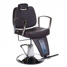 Fotel barberski HOMER II Brązowy