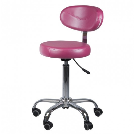 Fotel BD-8222 wrzosowy + Taboret BD-9934 wrzosowy