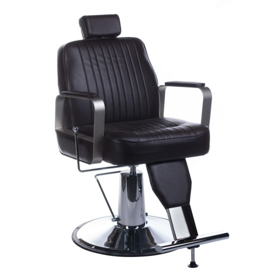 Fotel barberski HOMER Brązowy LUX