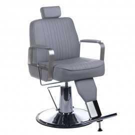 Fotel barberski HOMER Jasny szary
