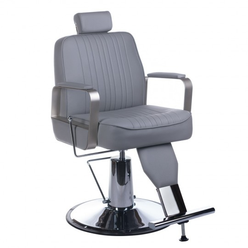 Fotel barberski HOMER Lux Jasny szary