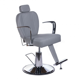 Fotel barberski OLAF Jasny szary