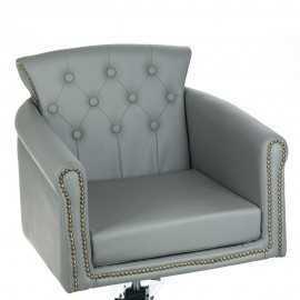 Fotel fryzjerski ALBERTO jasny szary